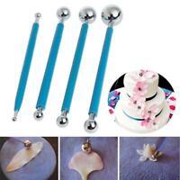4pcs Fondant Cake Flower Metal Ball Modeling Pastry Decor Sugarcraft Cutter Tool