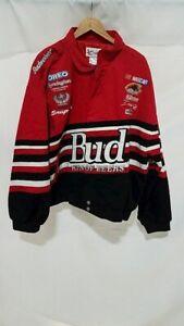 CHASE AUTHENTICS Budweiser Dale Earnhardt Jr. Red Nascar Racing Jacket Men's XXL