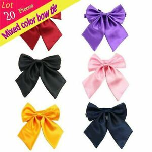 (20 pieces/lot) Adjustable Kid Chrildren Solid Bow Tie Clip-on Collar Butterfly
