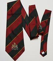 Vtg NWT Polo Ralph Lauren Repp Striped Crest Emblem Scotland Silk Twill Tie