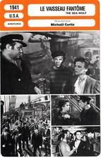 FICHE CINEMA : LE VAISSEAU FANTOME - Robinson,Lupino,Curtiz 1941 The Sea Wolf