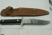 Vintage Colonial Prov. USA Hunting Knife Can Opener Leather Sheath MINT