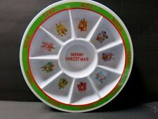 BN Beautiful CHRISTMAS Design 9 Section Plate 12""