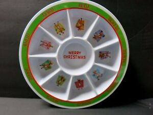 """BN Beautiful CHRISTMAS Design 9 Section Plate 12"""""""