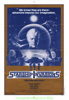 STARSHIP INVASIONS MOVIE POSTER Original Folded 27x41 One Sheet CHRISTOPHER LEE