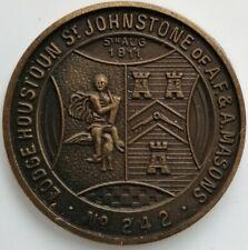 MASONIC MARK TOKEN PENNY LODGE HOUSTON ST JOHNSTONE No 242 SCOTLAND
