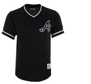 Mitchell & Ness Atlanta Braves Baseball Jersey New Mens Sizes MSRP $80