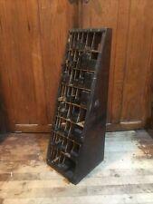 Print Shop Furniture Cabinet Block Printers Press Vintage Antique Thompson