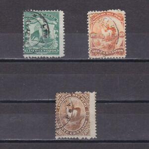 PERU 1866, Sc #16-18, Llamas, animals, Used