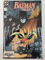 BATMAN #437 (1989) DC COMICS YEAR 3 Pt 2! PEREZ COVER! SIGNED by PAT BRODERICK!