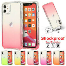 For iPhone 11 Pro XS Max XR 8 7 Transparent Hybrid Shockproof Hard Case Cover