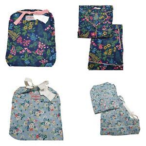 Cath Kidston Ladies Pyjamas PJs Short Summer Twilight Clifton Rose Cotton NEW