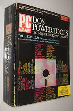 DOS POWER TOOLS TECHNIQUES, TRICKS AND UTILITIES - PAUL SOMERSON - EN INGLES