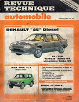 RTA revue technique automobile N° 498 RENAULT 25 R25 V6  INJECTION TURBO LIMOUSI