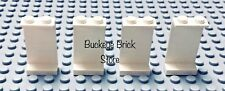 4- Lego WHITE 1x2x3 PANEL Solid Stud 6765 2149 6410 6571 6542 CLASSIC Town Rare