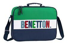 Benetton fille bleu marine contraste panneau sacoche-neuf