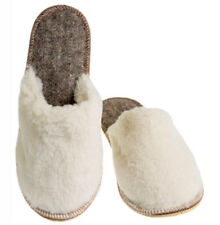 Womens Slippers Sheep Wool & Faux Fur Warm Russian Slippers Cozy Not Slippery