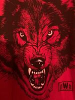 Vintage 1999 NWO Wolfpack Shirt WCW Red And Black Double  Stitch Double Sided