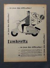 PUB PUBLICITE ANCIENNE ADVERT CLIPPING 260917 / SCOOTER LAMBRETTA SE JOUE DES DI