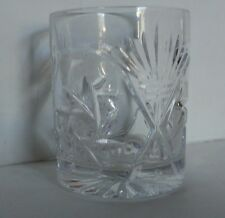 Pinwheel Crystal Whiskey Glass Low ball