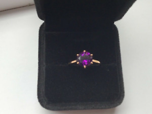 Superb 1.76ct Moroccan Amethyst Solitaire Ring. 9k Rose Gold COA #N/O