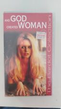 BRIGITTE BARDOT and god created woman  RARE COVER   SEALED VHS