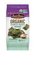 Annie Chun's Organic Seaweed Snacks, Sea Salt, 0.16 oz Pack of 12