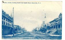 Ocean City NJ - WESLEY AVENUE SOUTH FROM 8TH STREET - Postcard