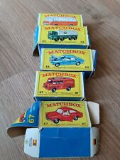 Vintage Lesney Product Matchbox Series W/ Box made in England