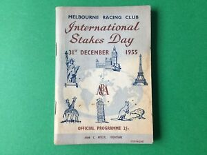 1955 Racing Programme International Stakes Day  Melbourne Racing Club