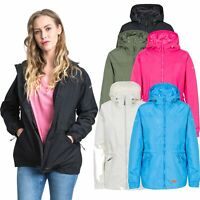 Trespass Womens Waterproof Jacket Draw Cord Waist Hooded Raincoat