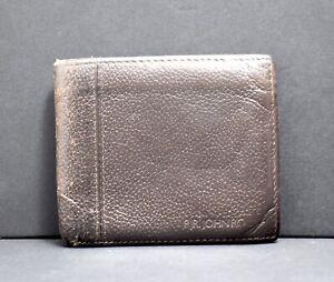 Rjr.John Rocha Men Leather Vintage Look Bifold Wallet Brown