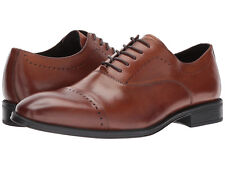 Kenneth Cole NY Men's Design 102212 US 10 M Cognac Leather Oxfords Shoes $160.00