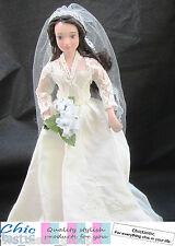 Kate Middleton porcelain doll Princess royal bride in replica wedding dress