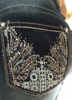 Wallflower Luscious Curvy Wings & Lace Stretch Bootcut Jeans Sizes 16,18,20, 22