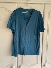 Mans Armani Exchange Blue T Shirt Size M Pre Owned