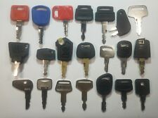 21 Heavy Equipment Keys Cat Volvo Hitachi John Deere JCB Komatsu Kobelco Kato