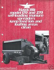 Farm Equipment Brochure - Hawk Bilt - 170 270 - Manure Spreaders (F3463)