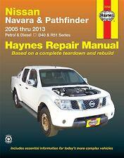Haynes atelier réparation manuel nissan navara D40 pathfinder R51 2005-2013