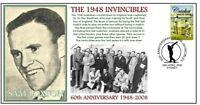 1948 INVINCIBLES 60th ANNIV CRICKET COVER, SAM LOXTON