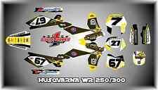 HUSQVARNA WR 250 - 300 2stroke 07-12  SEMI CUSTOM GRAPHICS KIT TEAM rocker