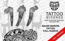Maori Polynesian WARIOR TATTOO Stencil Template POWERFULL