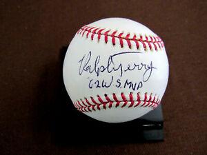 RALPH TERRY 1962 W.S. MVP NEW YORK YANKEES SIGNED AUTO OML BASEBALL STEINER