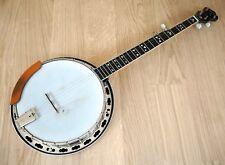1995 Deering Maple Blossom 5 String Banjo w/ Flame Maple Resonator, Shubb Capo