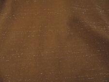 Meterware 50 cm 2 €  Polyester hellbraun mit Goldstreifen  Neu 130 cm breit