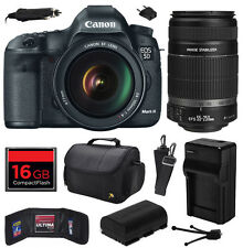 Canon 5D Mark 3 III DSLR w/ 24-105mm + 55-250mm IS II Lens (16GB Value Bundle)