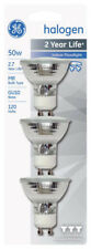 GE 81662 Quartz Halogen Flood Light Bulb 50 Watts 120 Volt