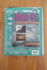 BOB JONES UNIVERSITY MATH 6th Gr HOMESCHOOL TEACHER'S BOOK ISBN # 0-89084-991-9