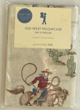 Pottery Barn Kids Standard Pillow Cases Old West Collection 100% COTTON