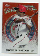 Michael Taylor 2015 Topps Chrome Future Stars Red Refractor /5 PLE117